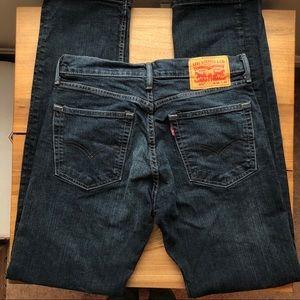 Levi's 505 Dark Wash Straight Jean
